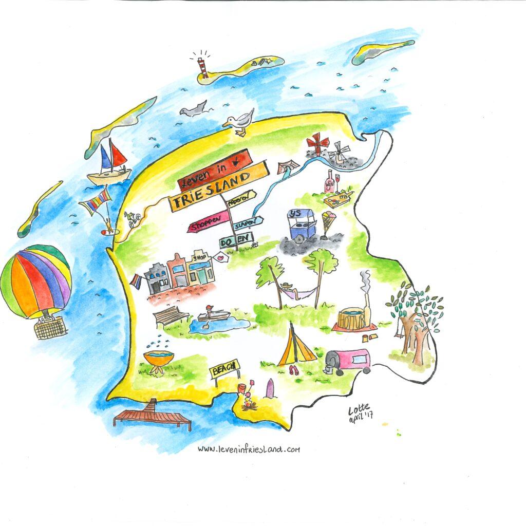Liflotte Friesland illustratie