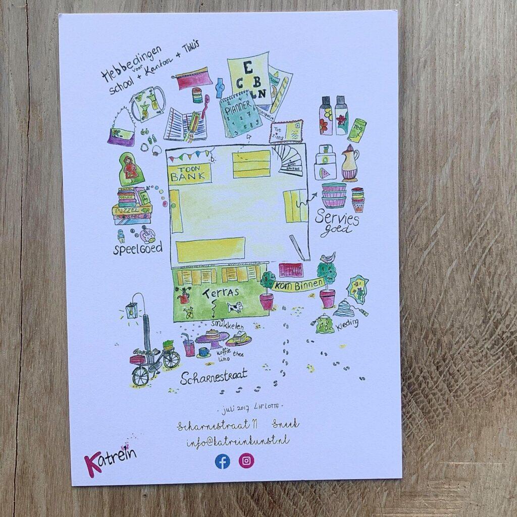 Liflotte Katrein Kunst plattegrond 2017