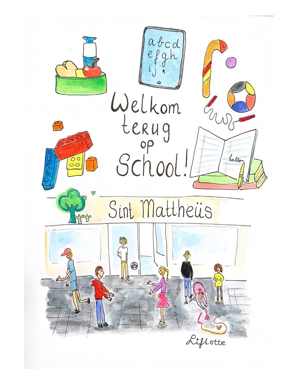 Liflotte St, Mattheus school Welkom terug kaart 2020