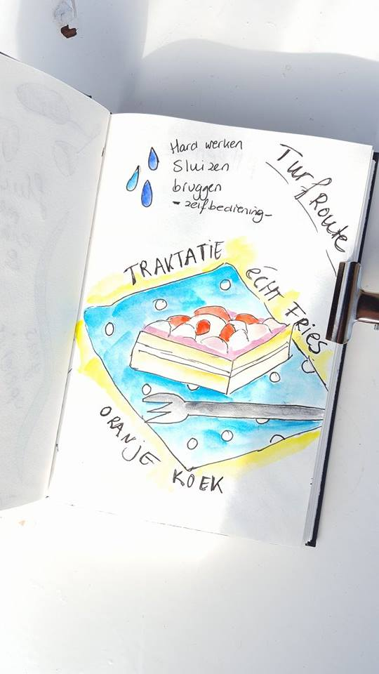 Liflotte dagboek oranje koek 2017