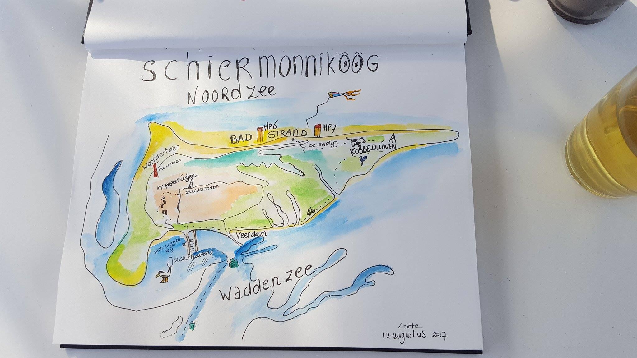 Liflotte dagboek plattegrondSchier 2017
