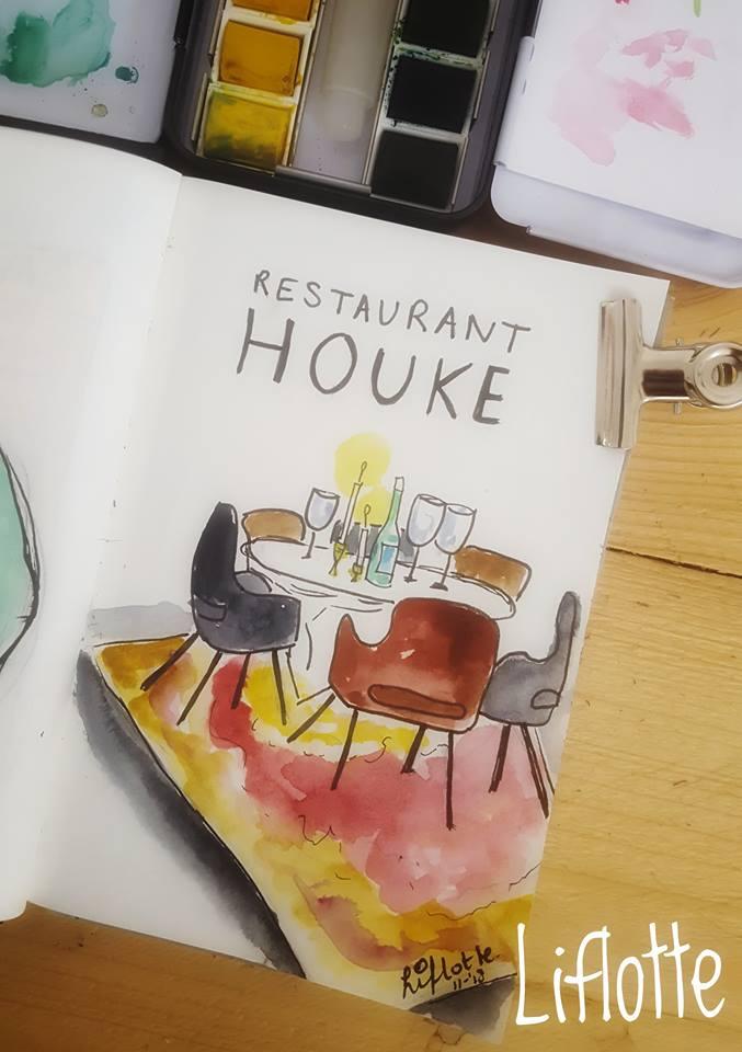 Liflotte dagboek restaurant Houke 2018