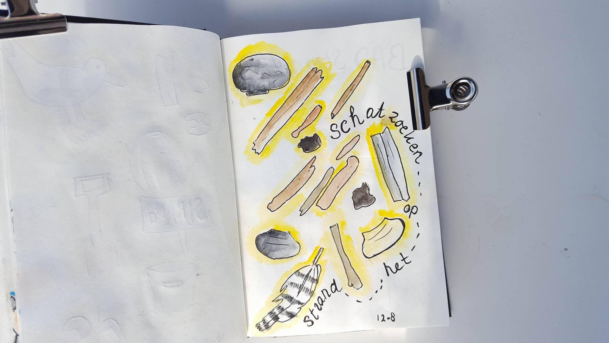 Dagboek Schier schelpen zoeken 2017
