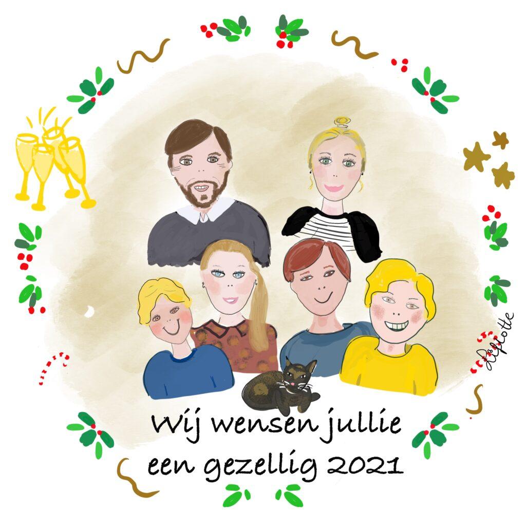 Liflotte kerstkaart Rineke 2020