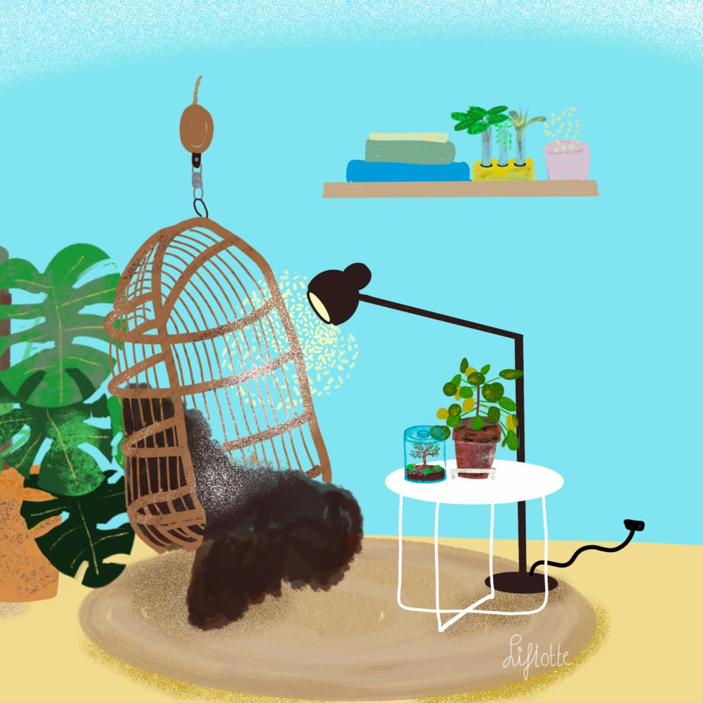 Liflotte sfeerplaat hangende stoel