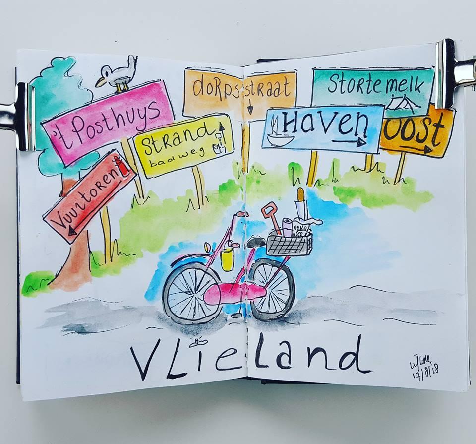 Vakantie Illustratie Vlieland 2018