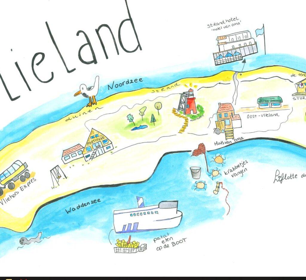 Liflotte plattegrond Vlieland