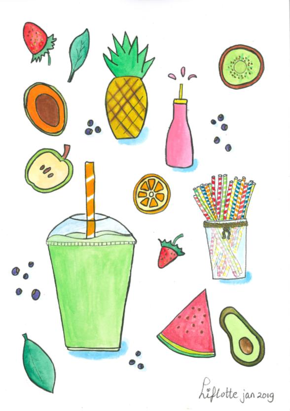 Illustratie Liflotte voor Vitamine Bo origineel