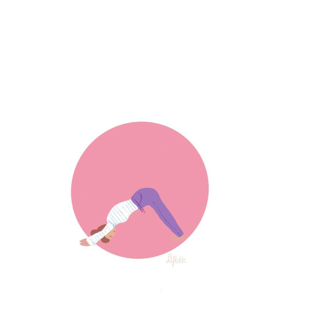 Liflotte yoga downward facing dog