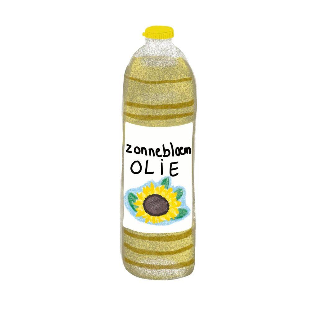 Zonnebloem olie omrin