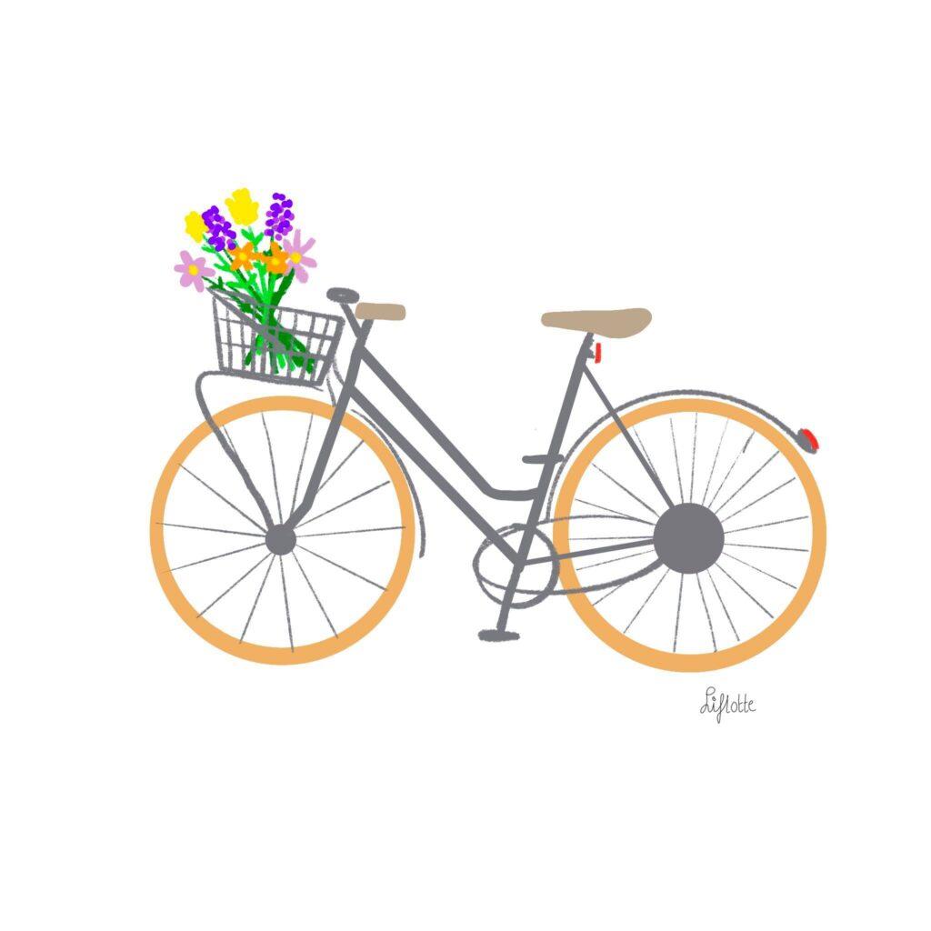 Liflotte OMrin 2 fiets bloemen